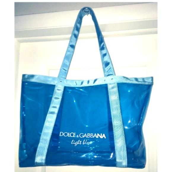 Dolce   Gabbana Handbags - Dolce   Gabbana Light Blue Clear tote bag 7723a7149ee74